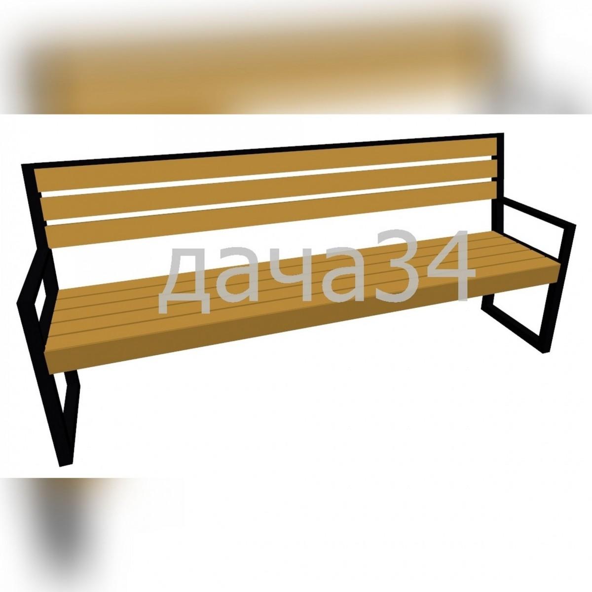 Скамейка садово-парковая С-01