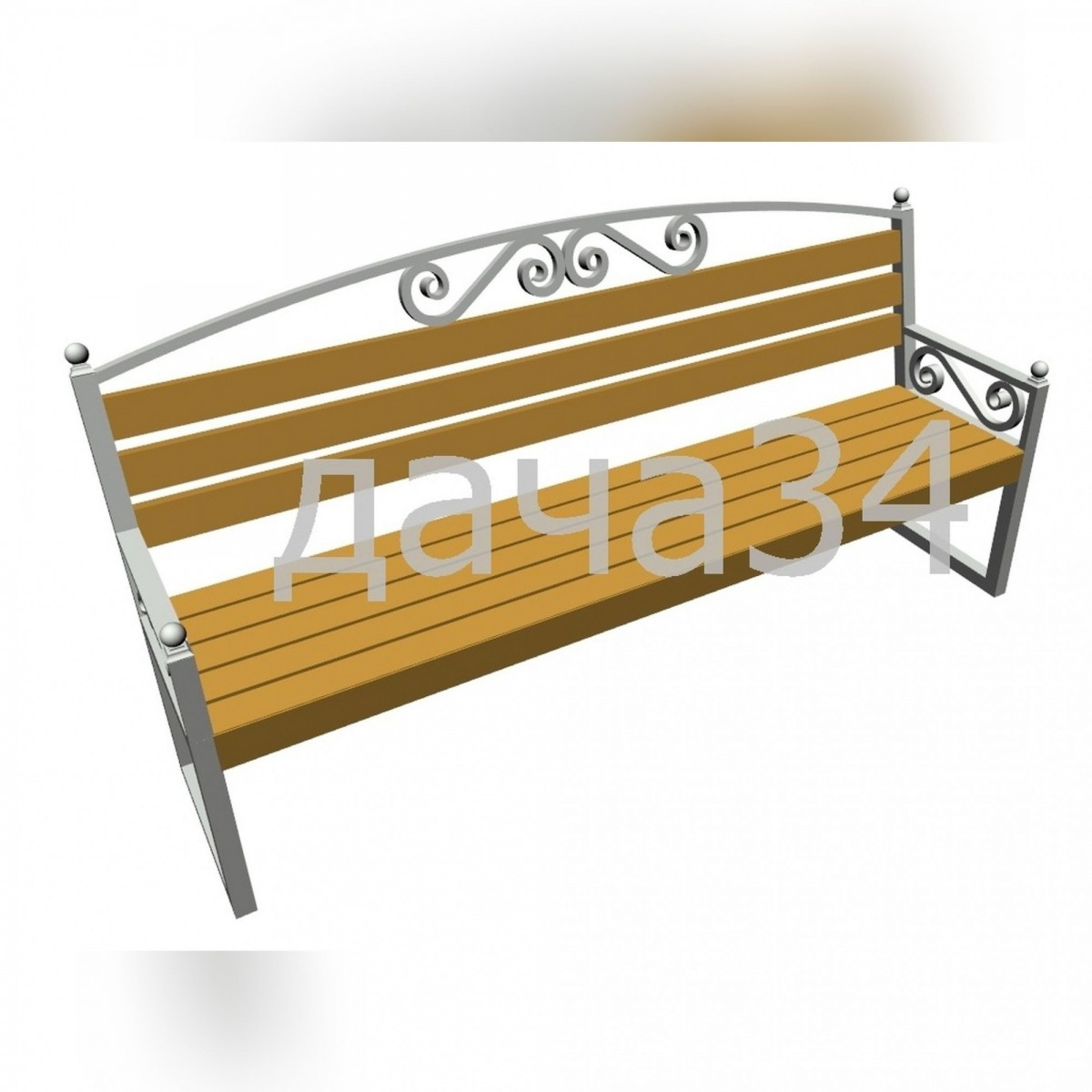 Скамейка садово-парковая С-02