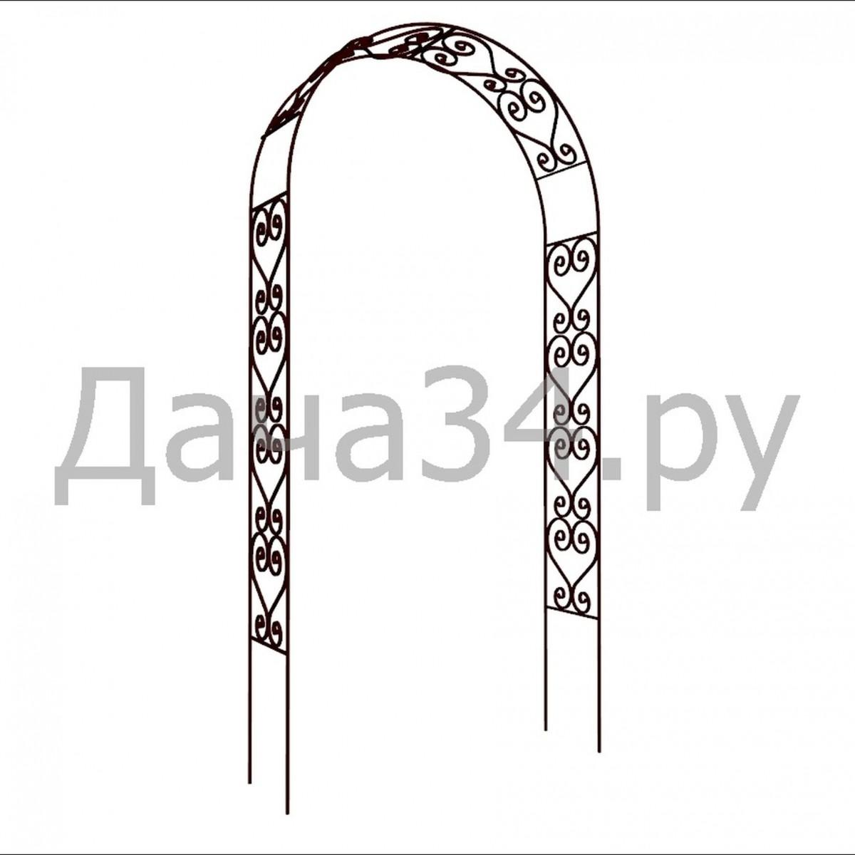 Арка садовая кованая А-02